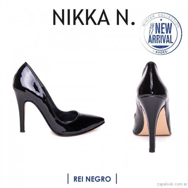 stilettos de charol inierno 2017 Nikka N. by Nicole Neumann