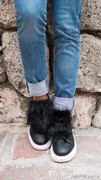zapatillas con pelo sintetico Luna Chiara invierno 2017