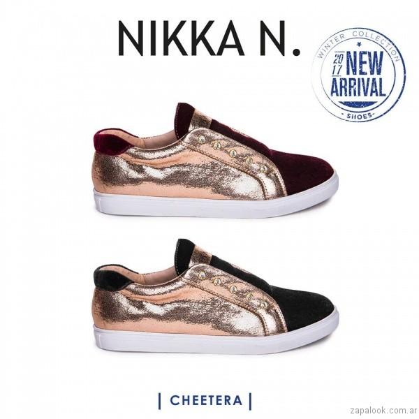 zapatillas doradas inierno 2017 Nikka N. by Nicole Neumann