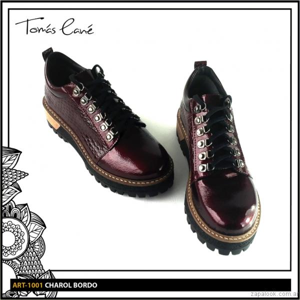 zapato abotinado bordo invierno 2017 Tomas Cane