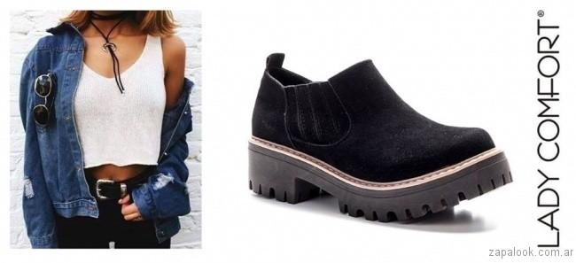 zapato de gamuza invierno 2017 Lady Comfort