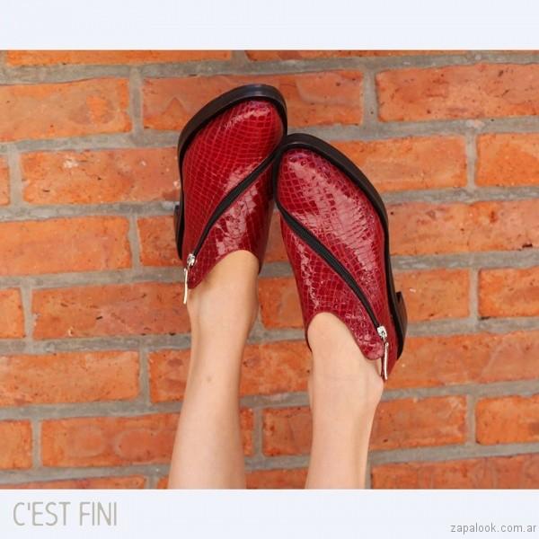 zapato rojo con cierre invierno 2017 - Cestfini