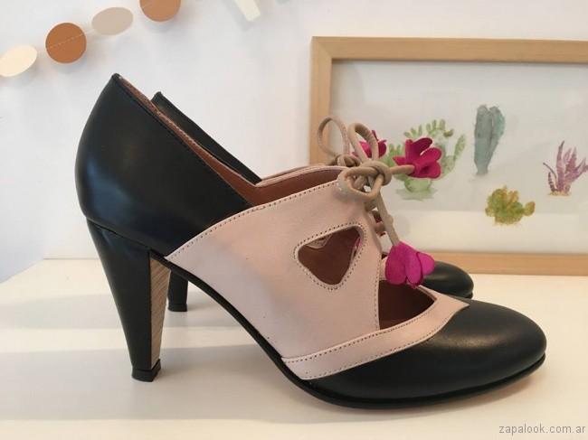 zapatos acordonados invierno 2017 - Alfonsina Fal