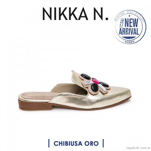 zapatos chatos en punta inierno 2017 Nikka N. by Nicole Neumann