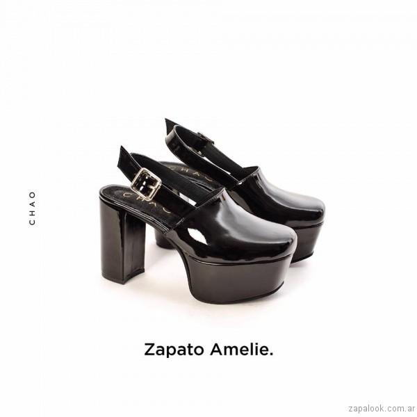 zapatos de charol con plataforma invierno 2017 - Chao Shoes