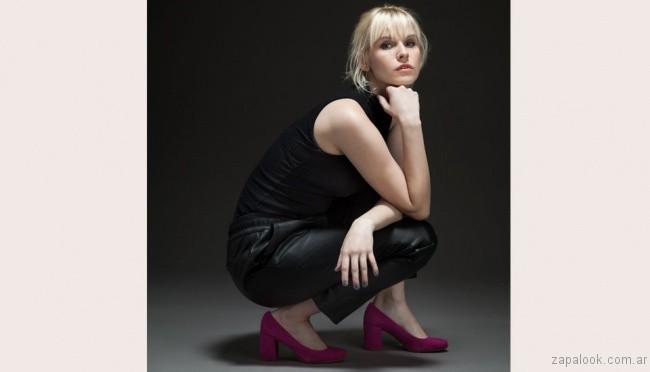 zapatos fucsia punta redonda invierno 2017 Sofi Martiré