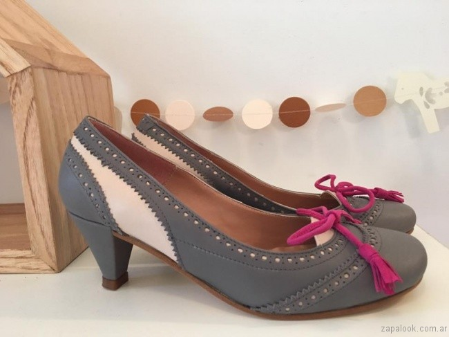 zapatos grises invierno 2017 - Alfonsina Fal