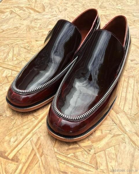 zapatos mocasines de charol invierno 2017 - Calzados Gekke