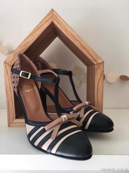 zapatos punta redonda con tacones altos invierno 2017 - Alfonsina Fal