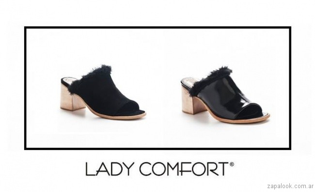 zuecos invierno 2017 Lady Comfort
