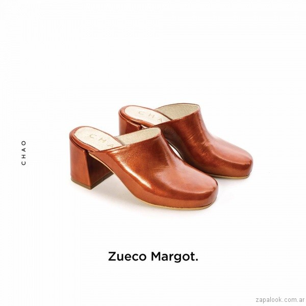 zuecos marrones invierno 2017 - Chao Shoes