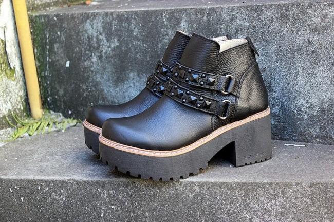 botinetas negras de mujer invierno 2017 - Calzados Tops