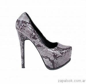 zapato con plataforma reptil Luciano Marra - Calzados invierno 2017