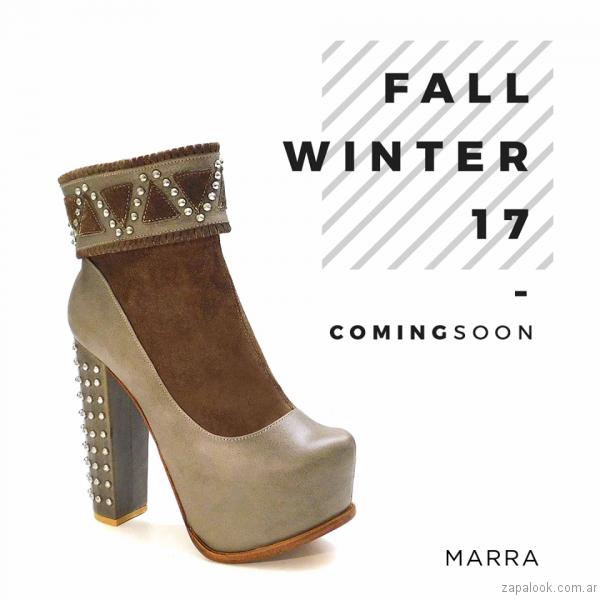 zapato vison Luciano Marra - Calzados invierno 2017