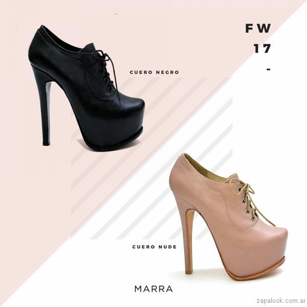 zapatos acordonados altos con plataformas Luciano Marra - Calzados invierno 2017