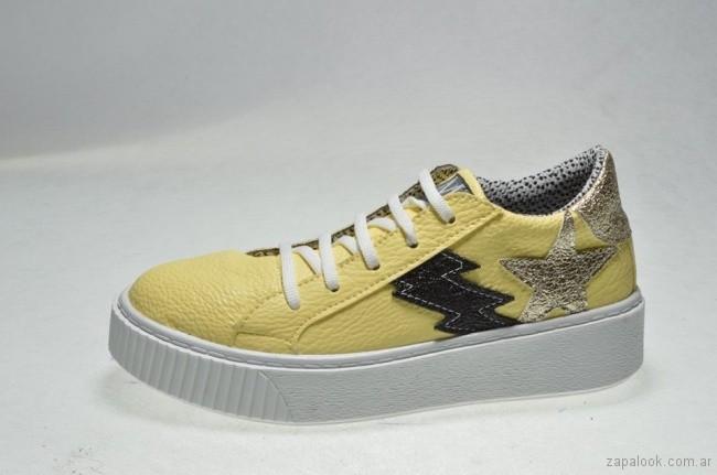 Calzados Mannarino zapatillas amarillas verano 2018