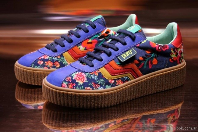 Nuevas zapatillas estampadas puro primavera verano 2018