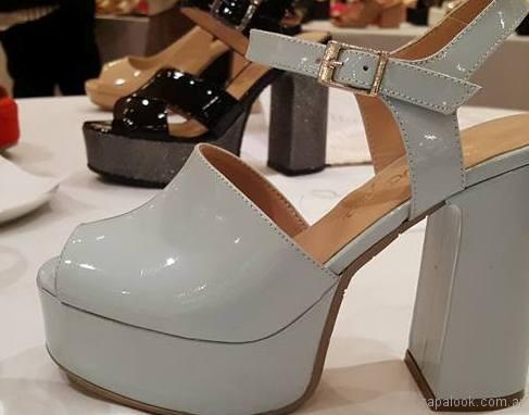 Sandalias blancas altas verano 2018 - Gravagna