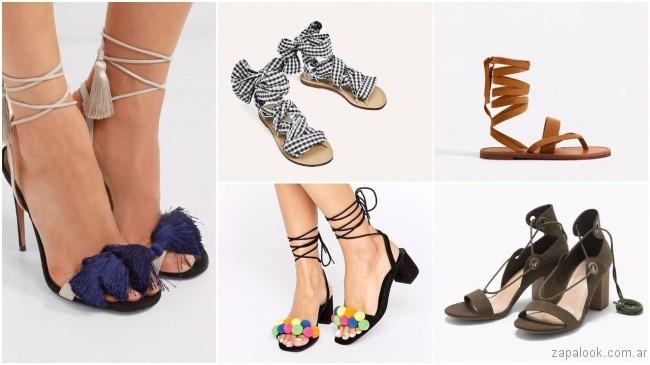 precio baratas calidad real calidad perfecta calzados atados en el tobillo – tendencias de moda primavera ...
