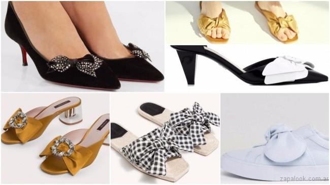 f42913060 ... Sandalias y zapatos con moños de moda primavera verano 2018 ...