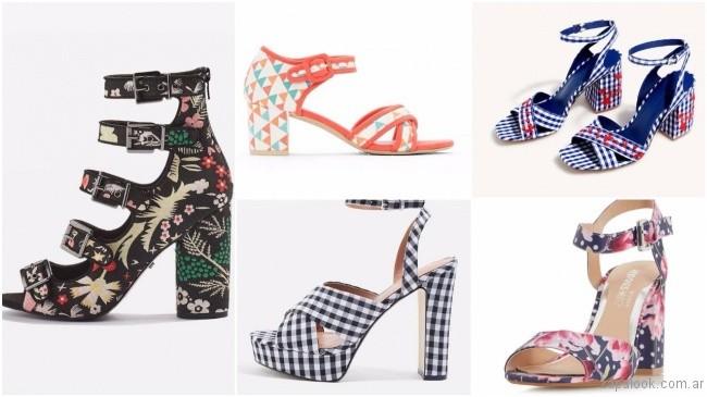 8b69d8091c sandalias y zapatos de tela estampada – tendencias de moda primavera verano  2018