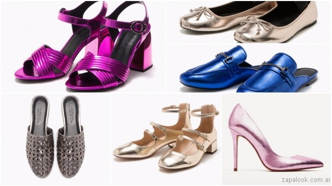 853ff3c2f486e sandalias y zapatos metalizados – tendencias de moda primavera verano 2018