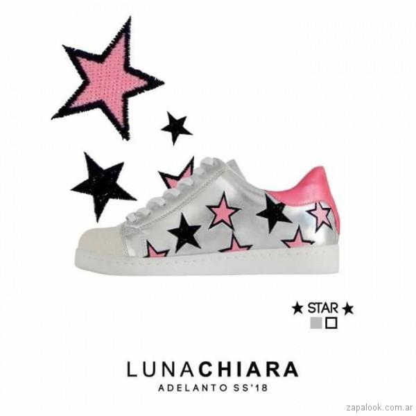 zapatillas con estrellas verano 2018 Luna Chiara