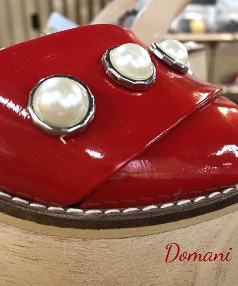 zapatos con apliques de perlas anticipo verano 2018 - calzados Domani
