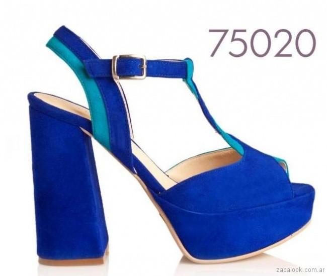 Sandalia altas tonos azules primavera verano 2018 Alfonsa bs as