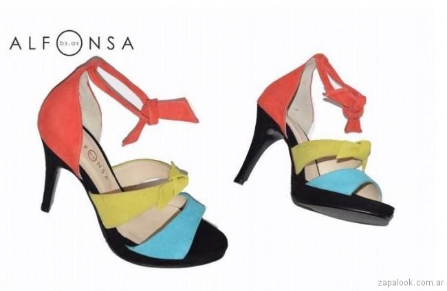 Sandalias coloridas primavera verano 2018 Alfonsa bs as