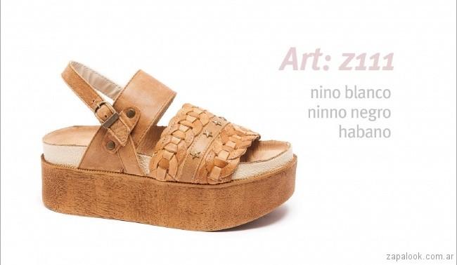 Sandalias con base alta con duero trenzado primavera verano 2018 - calzados Traza