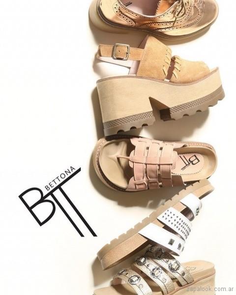 Sandalias con multiples tiras Calzados Bettona primavera verano 2018