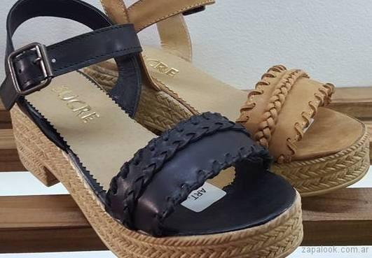 sandalias con base verano 2018 - Sucre