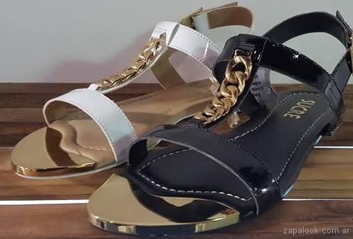 sandalias con cadenas verano 2018 - Sucre