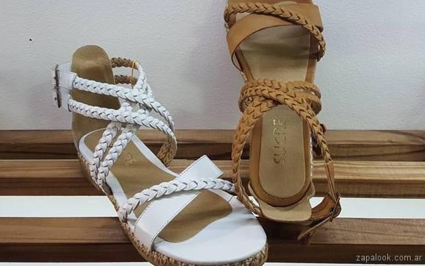 sandalias cuero trenzado verano 2018 - Sucre