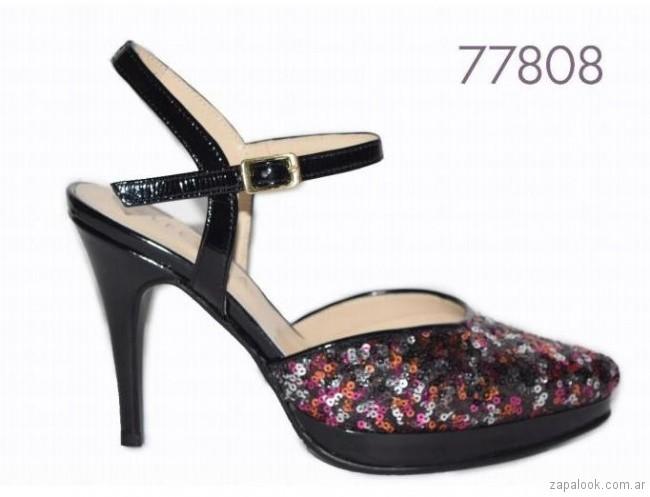 zapato bordado con lentejuelas primavera verano 2018 Alfonsa bs as