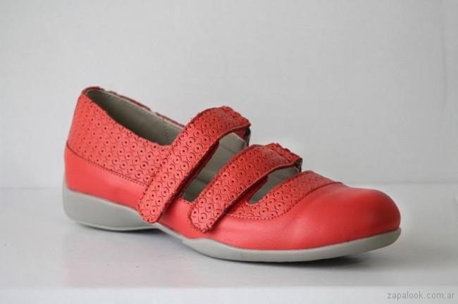 zapatos calados rojo primavera verano 2018 Circle Urbano
