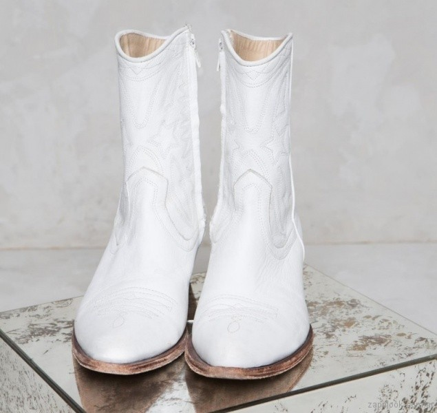 Botas texanas blancas primavera verano 2018 - Rapsodia