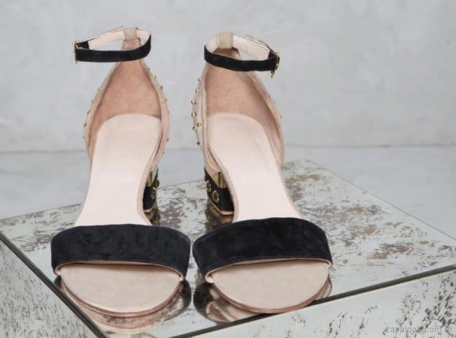 Sandalias altas con tachas primavera verano 2018 - Rapsodia