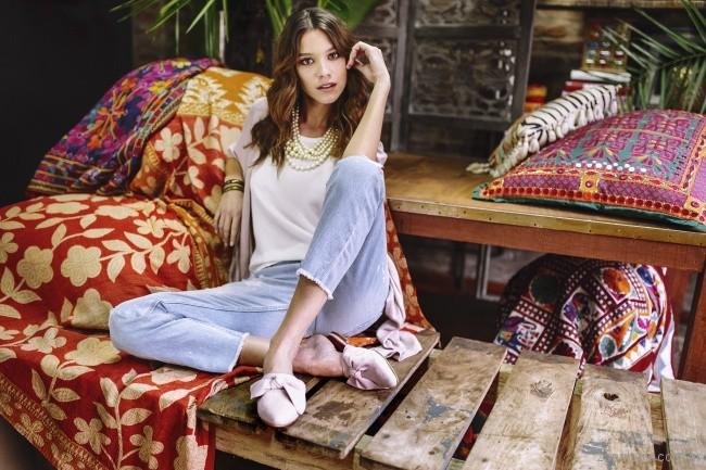 Zapatos bajo con punta sin talon - mules rosa claro verano 2018 - Marignan