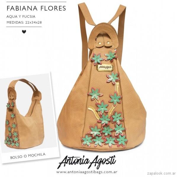 mochila con flores 3d verano 2018 Antonia Agosti Bags