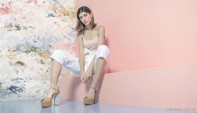 sandalias altas - calzado juvenil verano 2018 - Sofi Martiré