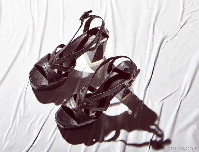 sandalias negras primavera verano 2018 - Justa Osadia