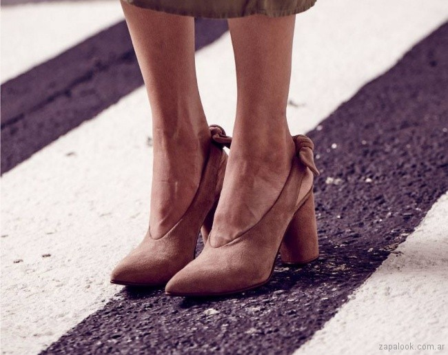 zapatos gamuza taco redondo primavera verano 2018 - Justa Osadia