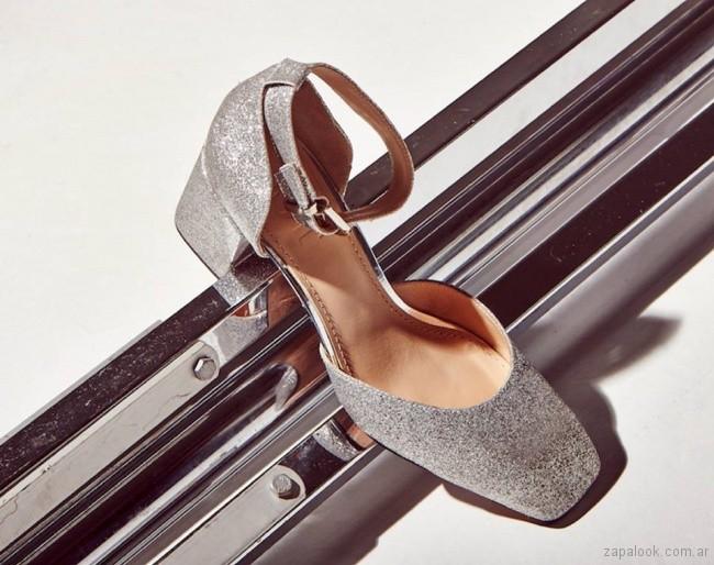 zapatos plateados primavera verano 2018 - Justa Osadia