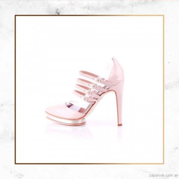 zapatos rosados taco fino primavera verano 2018 - Valdez