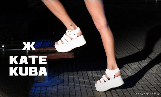 Sandalida blanca base alta verano 2018 - Kate Kuba