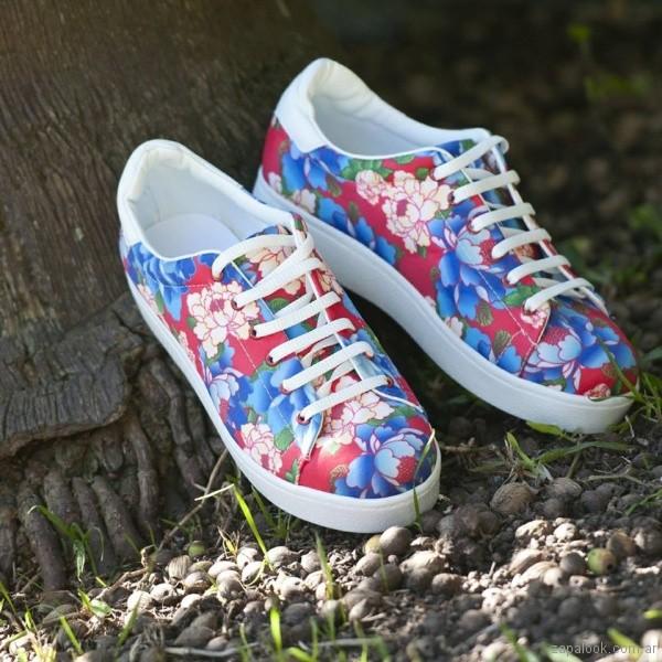 Zapatillas estampadas primavera verano 2018 - Nazaria