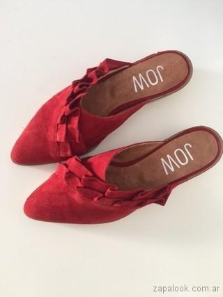 Zapatos rojos bajos verano 2018 - JOW