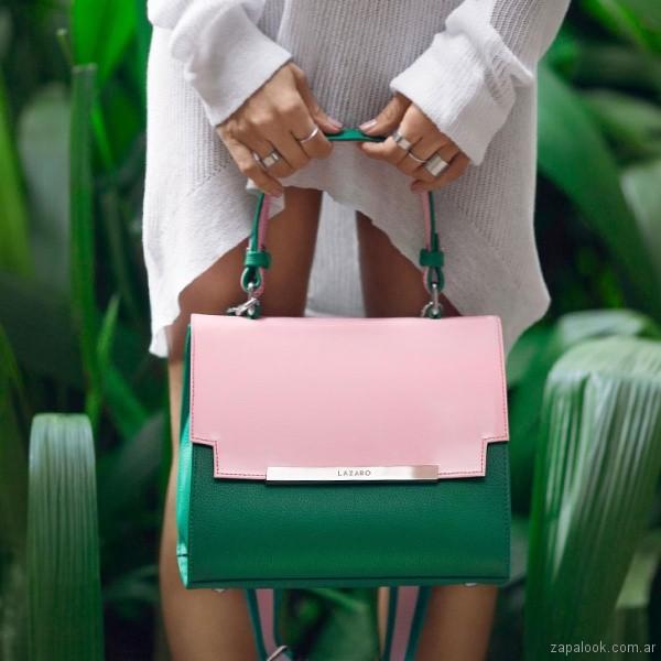 cartera verde y rosa - Lazaro verano 2018